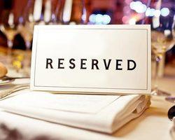 Réservation table